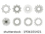 collection of line design with... | Shutterstock .eps vector #1936101421