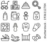 kids toys icon vector set. baby ... | Shutterstock .eps vector #1936112704