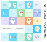 vector mentoring and coaching... | Shutterstock .eps vector #193611845