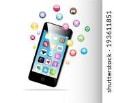 touchscreen smart phone with... | Shutterstock .eps vector #193611851