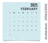 calendar template for 2021 year.... | Shutterstock .eps vector #1936122031