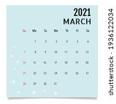 calendar template for 2021 year.... | Shutterstock .eps vector #1936122034