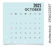 calendar template for 2021 year.... | Shutterstock .eps vector #1936122037
