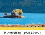 Gazebo In Lake Kawaguchiko....