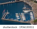 Aerial View Of The Port Of The...