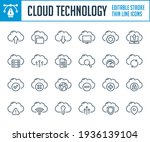 cloud technology and hosting...   Shutterstock .eps vector #1936139104