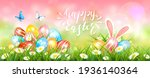 easter banner with colorful... | Shutterstock .eps vector #1936140364