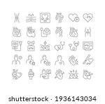 cardiology. collection of... | Shutterstock .eps vector #1936143034