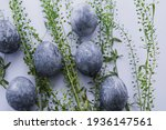Blue Gray Marble Painted Easter ...