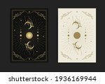 magical hand and crescent moon... | Shutterstock .eps vector #1936169944