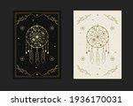 a dream catcher card with... | Shutterstock .eps vector #1936170031