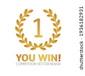 you win  first place and award... | Shutterstock .eps vector #1936182931
