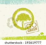 go green vector tree organic... | Shutterstock .eps vector #193619777