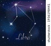 zodiac sign libra on against... | Shutterstock .eps vector #1936198441