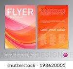 abstract vector modern flyer  ... | Shutterstock .eps vector #193620005