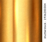 Small photo of Shiny brushed metallic gold background texture. Bright polished metal bronze brass plate. Sheet metal glossy shiny gold