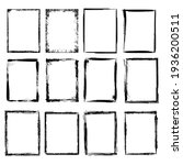 grunge frames. scratchy... | Shutterstock . vector #1936200511