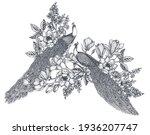 vector bouquet of hand drawn... | Shutterstock .eps vector #1936207747