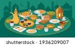 muslims evening meal iftar ... | Shutterstock .eps vector #1936209007