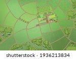 vector illustration. green farm ... | Shutterstock .eps vector #1936213834