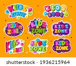 kids zone logo. colored emblem... | Shutterstock . vector #1936215964