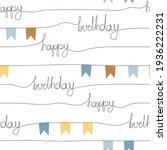 happy birthday flag garland... | Shutterstock .eps vector #1936222231