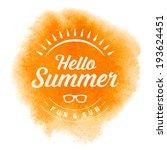 summer vector typography....   Shutterstock .eps vector #193624451