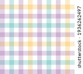 vichy check pattern in pastel... | Shutterstock .eps vector #1936262497