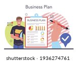 business plan concept. idea of... | Shutterstock .eps vector #1936274761