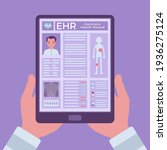electronic health record  ehr...   Shutterstock .eps vector #1936275124