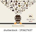 business coffee concept design . | Shutterstock .eps vector #193627637
