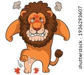 cartoon lion feeling angry... | Shutterstock .eps vector #1936293607