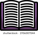open book icon. editable thick...
