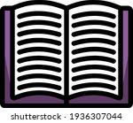 open book icon. editable thick...