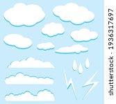 cartoon clouds set. design...   Shutterstock .eps vector #1936317697