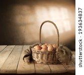 Basket Eggs And Sack