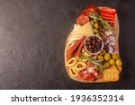 charcuterie board with spanish...   Shutterstock . vector #1936352314