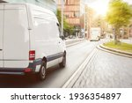 Cargo Van Driving In The City