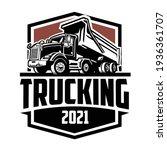 trucking company 2021 logo...   Shutterstock .eps vector #1936361707