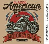motorcycle t shirt design  ... | Shutterstock .eps vector #1936370341