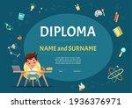 certificate kids diploma for... | Shutterstock .eps vector #1936376971