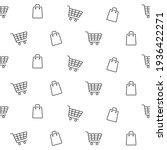 shopping line seamless pattern. ... | Shutterstock .eps vector #1936422271