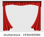 red curtains realistic. theater ... | Shutterstock . vector #1936430584