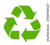 Recycle Symbol On White...