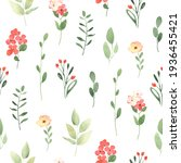 simple floral pattern with... | Shutterstock . vector #1936455421