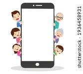 families using mobile... | Shutterstock .eps vector #1936458931