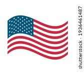 american flag national sign... | Shutterstock .eps vector #1936461487