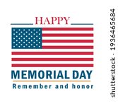 happy memorial day remember... | Shutterstock .eps vector #1936465684