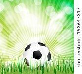 soccer ball on grass background ...   Shutterstock . vector #193647317