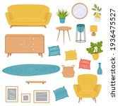 vector set of furniture for the ...   Shutterstock .eps vector #1936475527